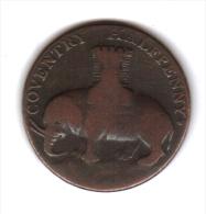 COVENTRY - Half Penny Token ( 1792 ) - Lady Godiva - Monetari/ Di Necessità