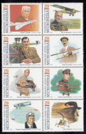 Micronesia MNH Scott #155 Block Of 8 Pioneers Of Flight - Kingsford-Smith, Richenbacker, Etc - Micronésie