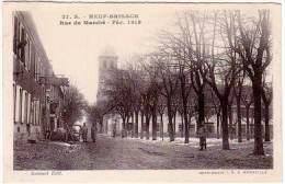 Neuf Brisach, Rue Du Marché - Fév. 1919 (soldats, Poilus) - Neuf Brisach