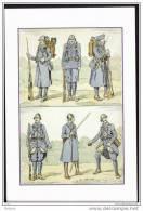 CP   HISTOIRE    COSTUMES  MILITAIRES  DE  L´INFANTERIE .    (35) - History