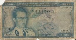 Banque Centrale Du Congo Belge - 1000 Francs - [ 5] Belgian Congo