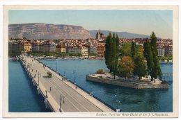 CP, SUISSE, GENEVE, Pont Du Mont-Blanc Et Ile J.J. Rousseau, Vierge, Ed : Paul Lobet - GE Ginevra