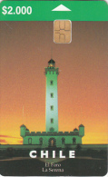 "CHILE - Lighthouse ""La Serena"" 2, Tirage 50000, 12/98, Used - Chile"