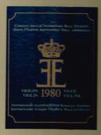 Concours Musical International Reine Elisabeth Violon 1980 - Coffrets De 3 Disque Vynile 33 Tours - Instrumental