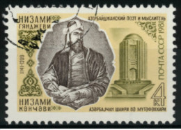 *B1* -  Russia & URSS 1981 - 840° Anniversario Nascita Di Nisami, Poeta - 1 Val.  Oblit.  - Bello - Usati