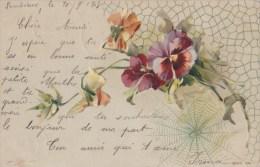 Bouquet De PENSEES Avec Toile D' Araignée - Ohne Zuordnung