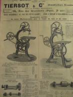 Tiersot & Cie/ Constructeurs Brevetés/Catalogue/Machin Es Outils/COULOMMIERS/Seine Et Marne /1904  CAT36 - France