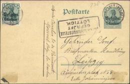 OOSTKANTONS: Entier 5 Ct + 5 Ct MORESNET (BELGE) Naar Leipzig - Censuur Luttich - WW I