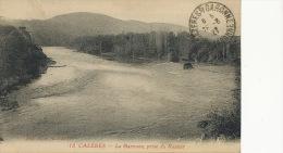 Cazeres 18 La Garonne Prise Du Ramier Edit  Bazar Hotel De Ville 1927 Semeuse 40 Cts - Otros Municipios