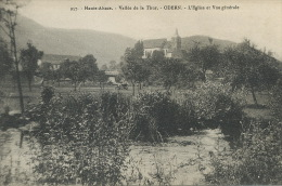 Oderen Odern 957 Vallée De La Thur Eglise Et Vue Generale Edit Chadourne Belfort - Sonstige Gemeinden