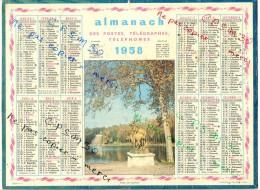 CALENDRIER GF 1958 - Parc De SCEAUX; Imprimeur Oller - Calendriers