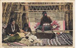 Navajo Indian Women Weaving Rugs 1930 Curteich