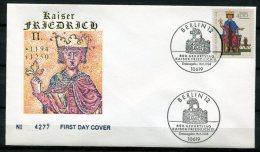 """Germany 1994 First Day Cover  Mi.Nr.1738 Ersttagsbrief """"800.Geburtstag Von Kaiser Friedrich II.  """" 1 FDC - Royalties, Royals"""