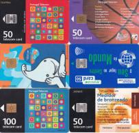 6 Télécartes PORTUGAL Lot1 (bon état) - Portugal
