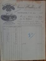 Lyon Facture Brasserie Winckler & Fils 1905 Bière Brune De Lyon - 1900 – 1949