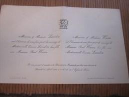 Sèvres Samedi 16 Avril 1898 FAIRE PART De Mariage De Personnalité Lire Titres Et Fonctions Honorifique - Mariage