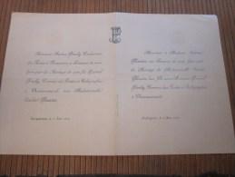 Châteaurenard Carpentras Aubignan 11/6/ 1898 FAIRE PART De Mariage De Personnalité Lire Titres Et Fonctions Honorifique - Boda