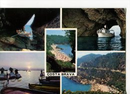 CPSM Format Actuel : COSTA BRAVA : Carte Comprenant 4 Multivues Et 1 Centrale - Altri