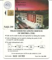 Eritrea-time Makes A Difference-(nakfa 200)-used Card+2 Card Prepiad Free - Eritrea