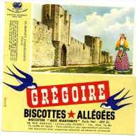 BUVARD BUVARDS BISCOTTE BISCOTTES ALLÉGÉES GRÉGOIRE CHÂTEAU  LES REMPARTS D'AIGUES MORTES LEVALLOIS PERRET - Biscottes
