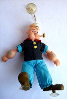 PELUCHE POPEYE A VENTOUSE COMPLET AVEC SA PIPE - 1989 - BRÖER VERTRIEBS - Figurines