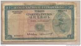 Timor Possedimento Portoghese - Banconota Circolata Da 50 Scudi - 1967 - Timor