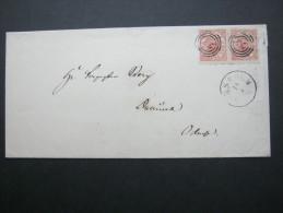 4 Öre Auf Brief Aus HORSHOLM - 1864-04 (Christian IX)