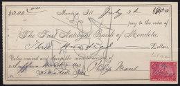 United States (USA) 1900 Check - Etats-Unis