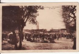 ILE D'OLERON - SAINT-PIERRE (Charente-Maritime)  Le Marché  -  VOIR 2 SCANS - - Ile D'Oléron