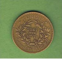 TUNEZ - PROTECTORADO FRANCES -  2 Francs  1941  KM248 - Túnez