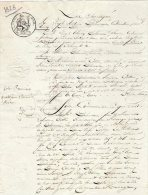 VP663 - ROISSY X PARIS X OZOIR / LA / FERRIERE 1828 - Acte Famille DELAMARRE X COTTIN - Manuskripte