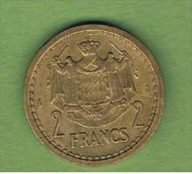 MONACO -  2 Francs  ND  KM121a - 1922-1949 Louis II