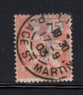 FRANCE- Y&T N°125-  Oblitéré- LILLE - Place St Martin-17/9/1903 - 1900-02 Mouchon