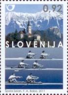 SLOVENIA 2011 Mi 901 - World Rowing Championships, Bled - Ruder WM Aviron; Church - MNH ** - Slovénie