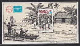 Micronesia MNH Scott #C25 Souvenir Sheet $1 Hayes Holding Chief Hostage - AMERIPEX '86 - Micronésie