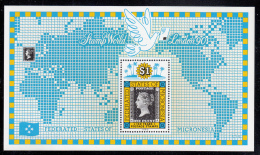 Micronesia MNH Scott #115 Souvenir Sheet $1 Penny Black Stamp, 150th Anniversary London '90 - Micronésie