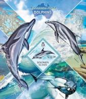 slm13415b Solomon Is. 2013 Australian Fauna Dolphins s/s