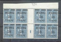 Memel 61ZW+Ms ZWISCHENSTEG**POSTFRISCH (X5430 - Klaipeda