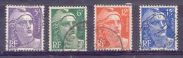 FRANCE  Yvert  N° 883 à 886  Oblitérés - 1945-54 Marianne (Gandon)