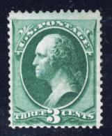 1870 - G.Washington - 3 Cent. Verde. Dentellato 12 (Unificato 45) - 1847-99 General Issues
