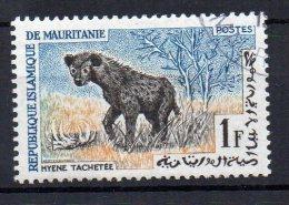 MAURITANIE - HYENE TACHETEE - 1963 - YT N° 166 - 1f - Oblitérée - - Mauretanien (1960-...)