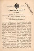 Original Patentschrift - Max Petrick In Randers , 1895 , Apparat Zum Pressen Von Kacheln , Kachel , Fliesen , Denmark ! - Maschinen