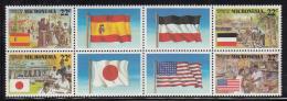 Micronesia MNH Scott #59-62 Block Of 4 With 4 Center Labels 22c German, Spanish, Japanese, US Trust - Colonial Eras - Micronésie