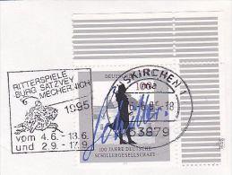 1995 COVER KNIGHT ON HORSE JOUSTING EVENT Pmk Euskirchen Germany, Horses - History