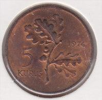 @Y@   Turkije   5 Kurus  1974   AUNC   (2522) - Turquia