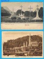 LOURDES (Hautes Pyrénées) 10 CARTES, 1946 / 1929 / 1910 / 1903 . - Cartoline
