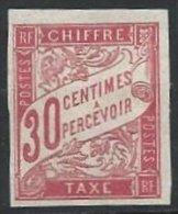 COLONIES GENERALES - Taxe - 30 C. Rouge Neuf - Portomarken