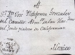 G)1817 MEXICO, MEXICO, COLONIAL MAIL, VALLE DEL MAIZ, RRR, XF - Mexico