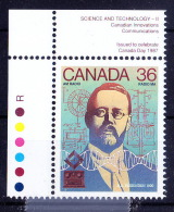 Canada MNH, Colour Guide, Reginald Fessenden, Invented  Radiotelephony - - Elektriciteit