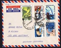 1967  Air Letter To Germany   Antarctic Scenes - Cartas